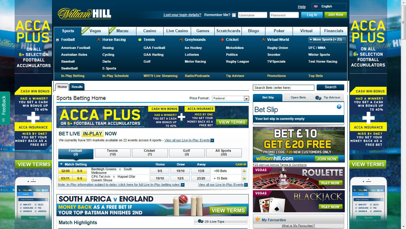 sports betting at william hill