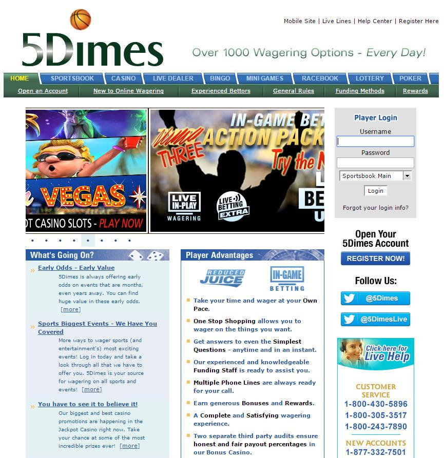 5Dimes sportsbook   Gambling&Sports
